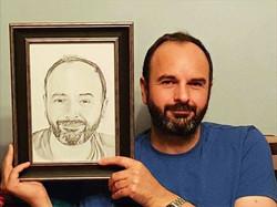 Tony with his portrait