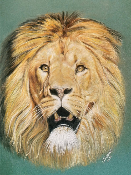 Luther the lion -ORIGINAL DRAWING