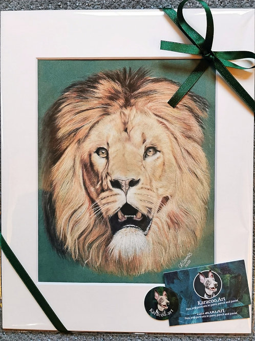 Luther the lion - PRINT ONLY