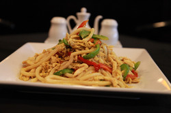 Singapore Chow Udon with Chicken