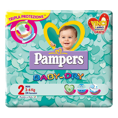 PANNOLINI PAMPERS BABY DRY MINI 24