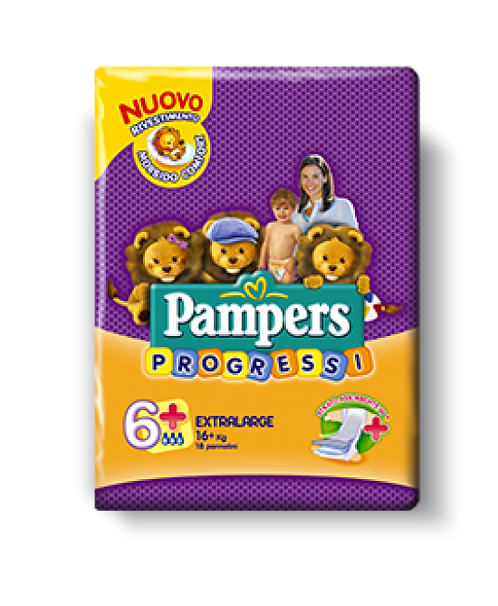 PANNOLINI PAMPERS PROGRESSI EXTRA 18