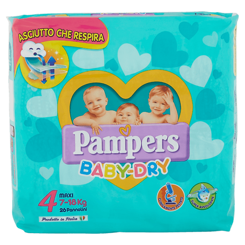 PANNOLINI PAMPERS BABY DRY MAXI 19