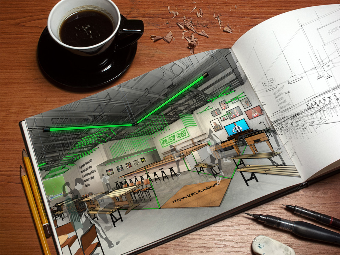 powerleague cafe.