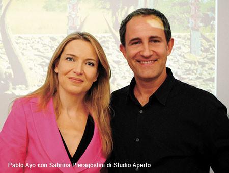 Pablo Ayo and Sabrina Pieragostini of Italia1 News