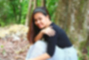woman, pretty woman, simple woman,nature, forest, lady in black