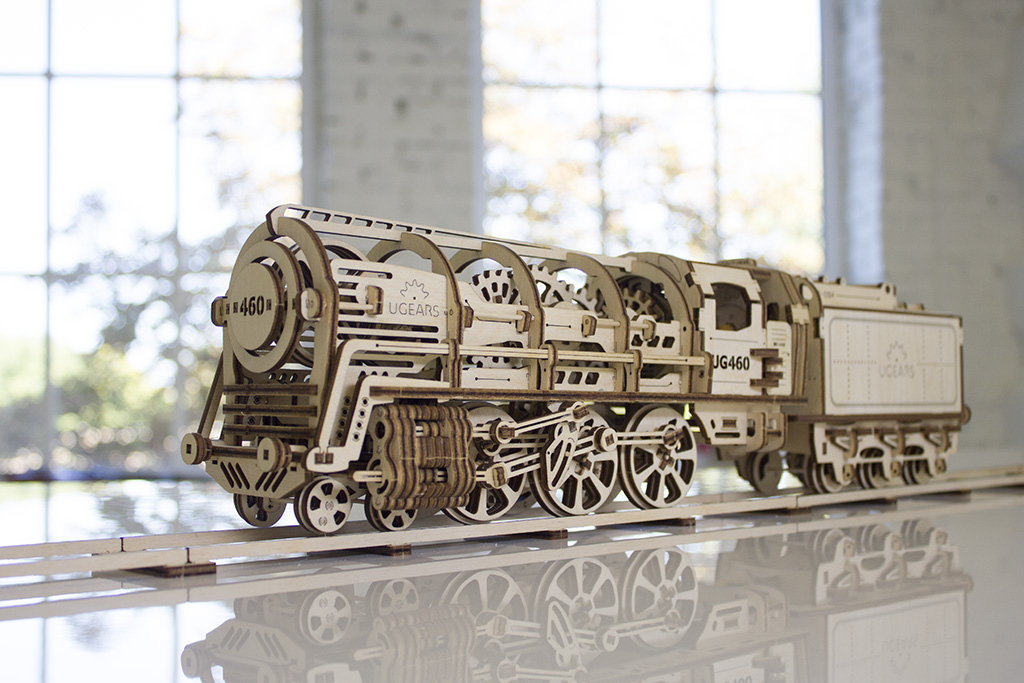Model Steam Locomotive with Tender