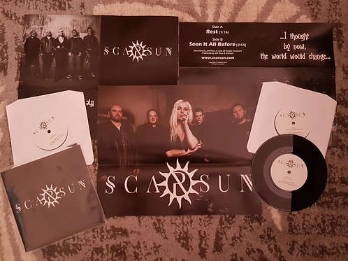 Limited edition 7'' vinyl with poster sleeve.  ''REST'' & ''SEEN IT ALL BEFORE''