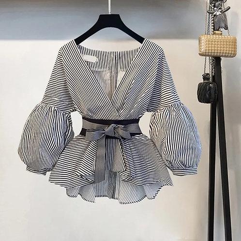 Lantern Sleeve Blouse Shirt