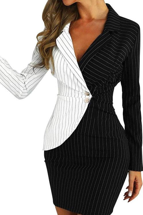 Side button Blazer dress