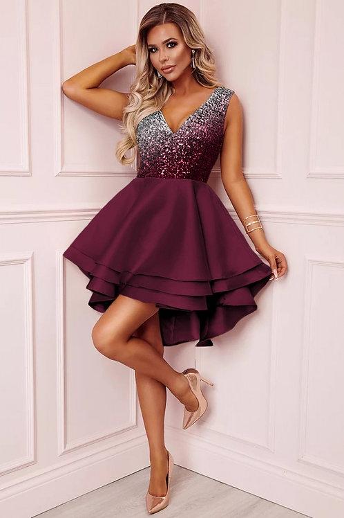 Sequin multi layered skater dress
