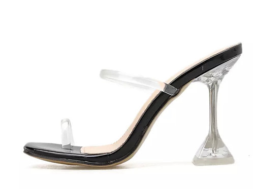 Toe ring Sexy Transparent Crystal Mule