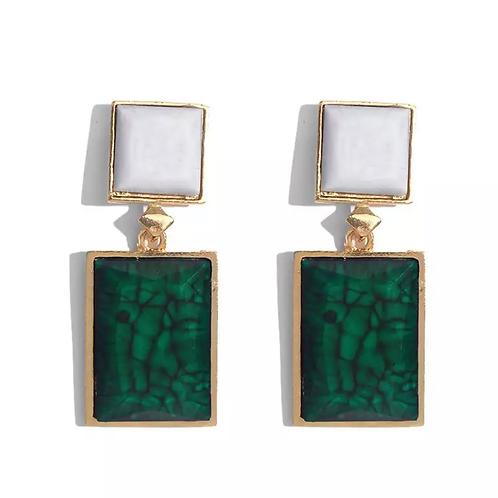 Stylecoquet Emerald Drip earings