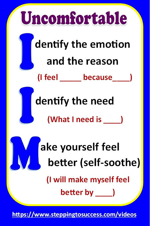 Double Sided Pocket Sized Managing Emotions Cards
