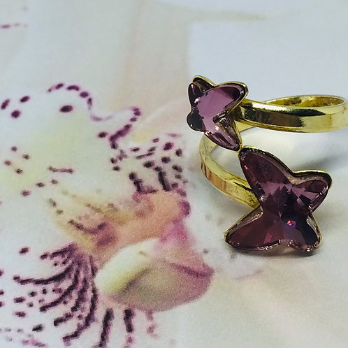 Bague BUTTERFLY  Duo Plaqué Or