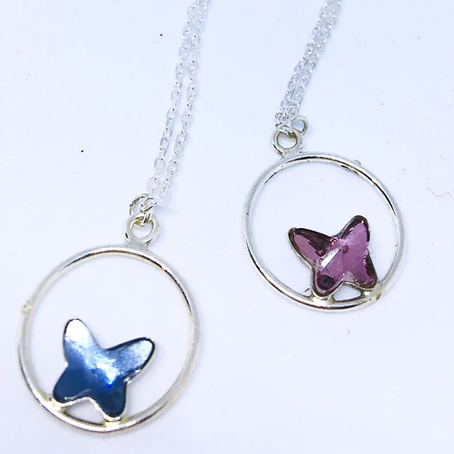 Collier BUTTERFLY Cercle Argent