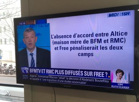 Free va arrêter la diffusion des chaînes d'Altice dès vendredi (BFM, RMC Story et Découverte)