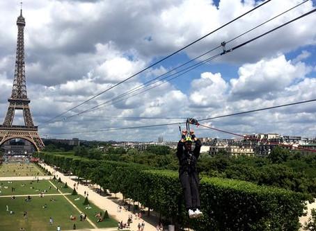 La tyrolienne de la Tour Eiffel est de retour cette semaine