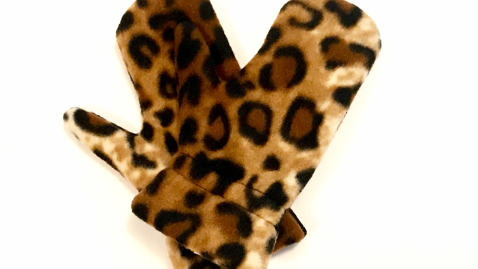 Toddler Leopard Mitts