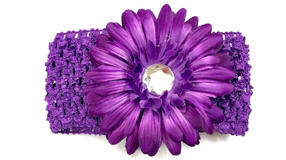 Purple Gem Flower Headband