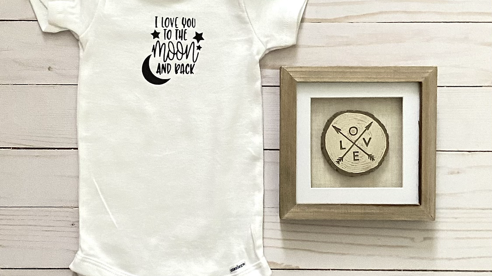 Baby Onesie - Love You To The Moon and Back