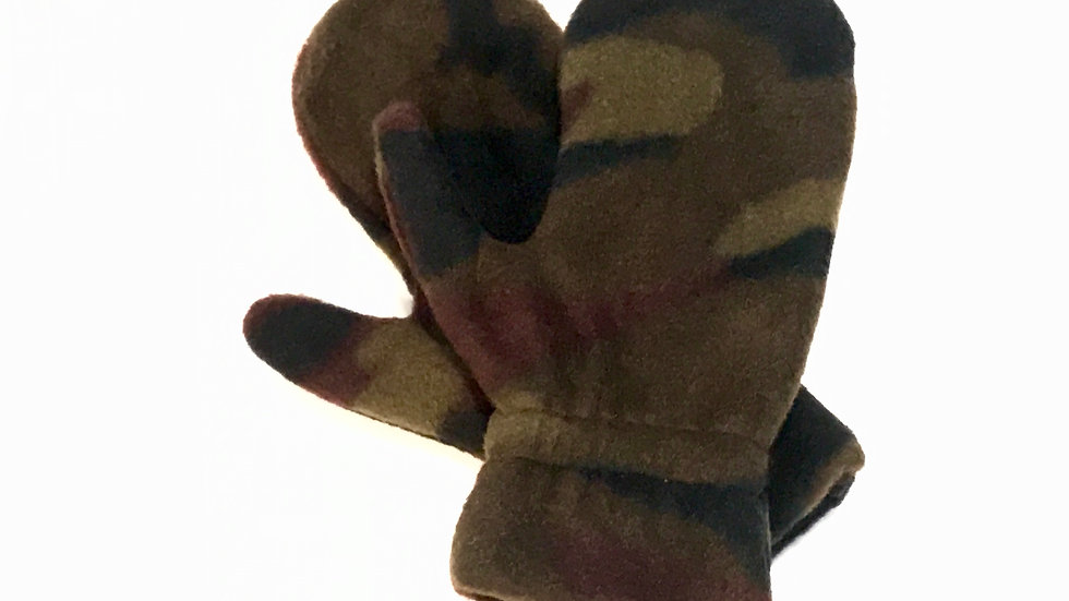 Toddler Green Camo Mitts