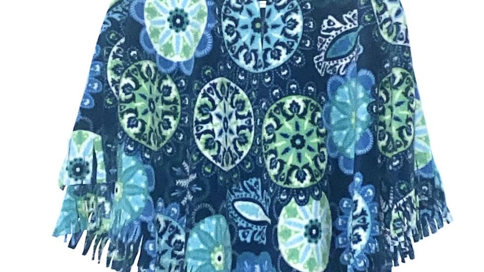 Turquoise Mandela Poncho