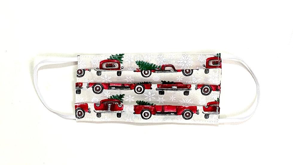 Adult Christmas Face Mask - Christmas Trucks