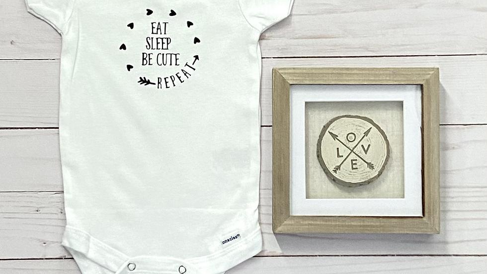 Baby Onesie - Eat, Sleep, Be Cute