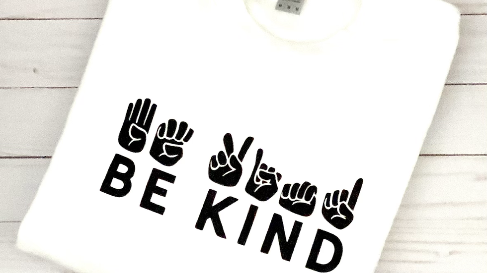 Be Kind Crewneck Sweatshirt - White