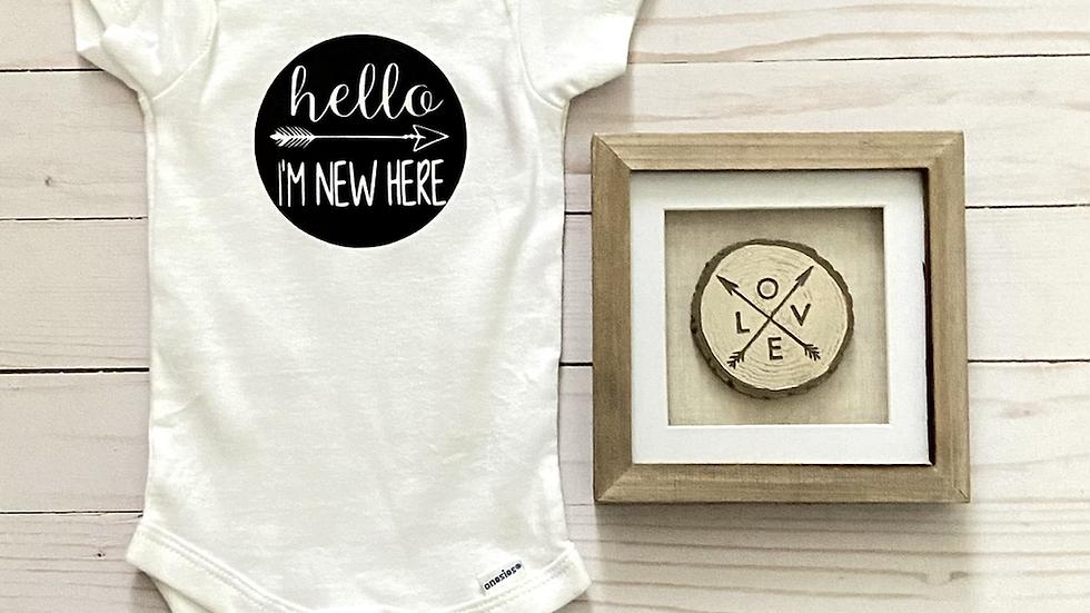 Baby Onesie - Hello I'm New Here