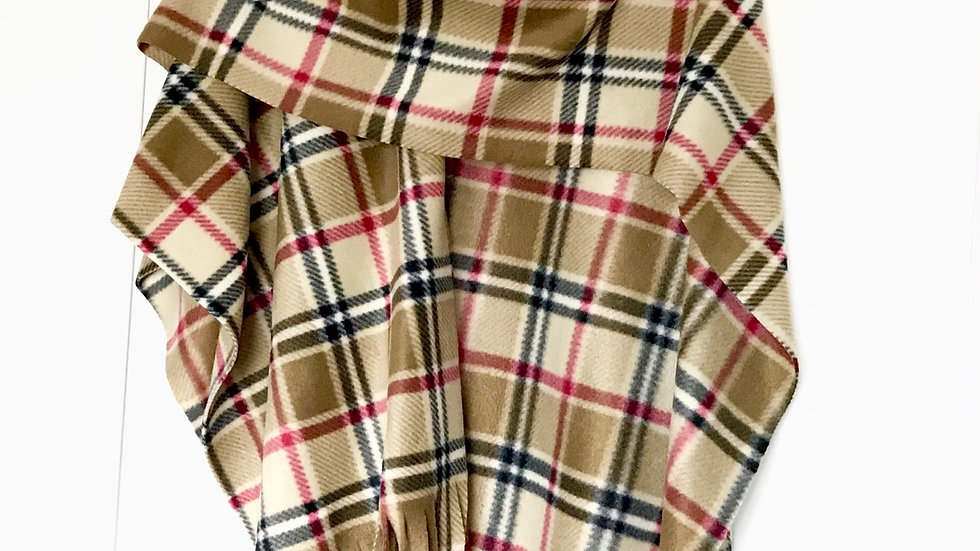 Ladies Wrap - Tan Tartan