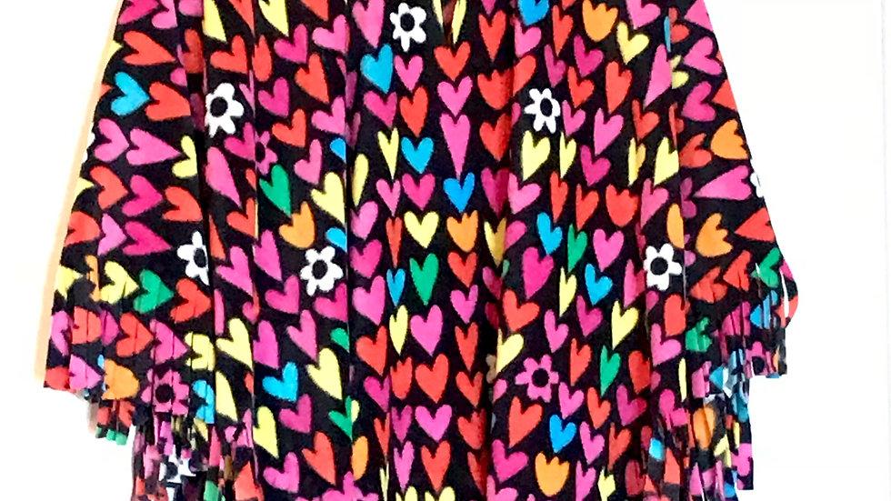 Colourful Hearts Poncho