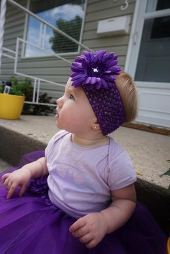 Purple Gem Flower Headbad