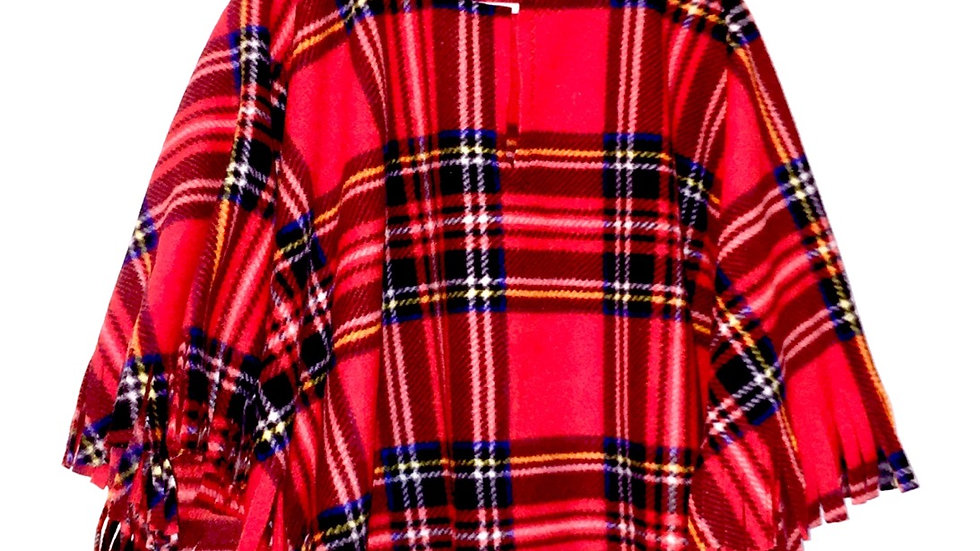 Red Tartan Poncho