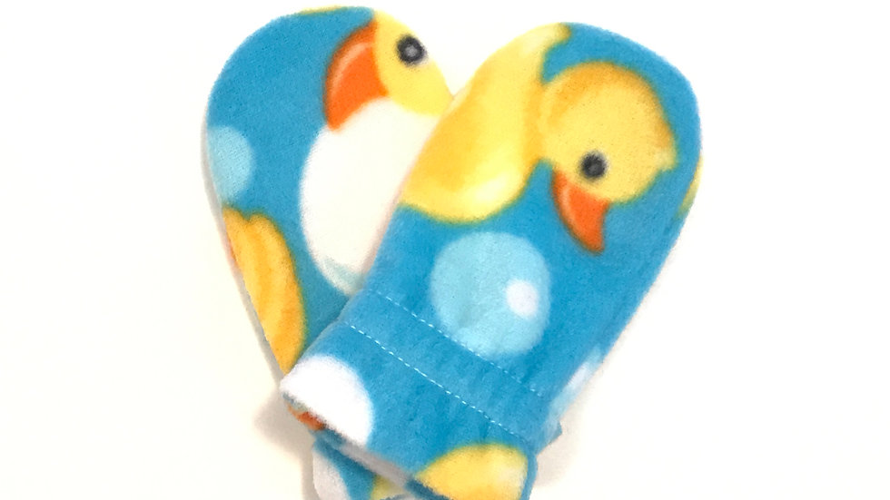 Infant No-Thumb Rubber Ducks Mitts