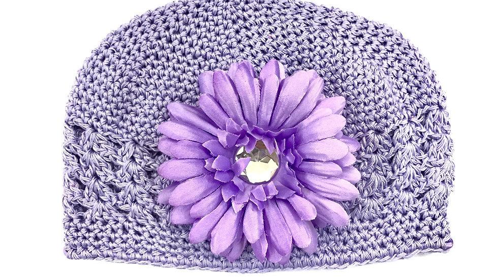 Lavender Toddler Gem Flower Hat