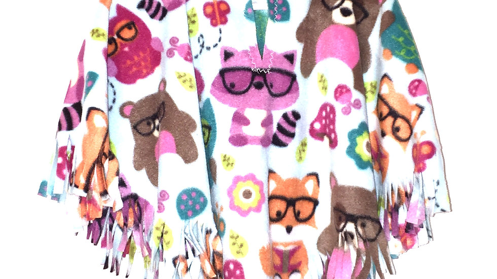 Forest Animals Poncho