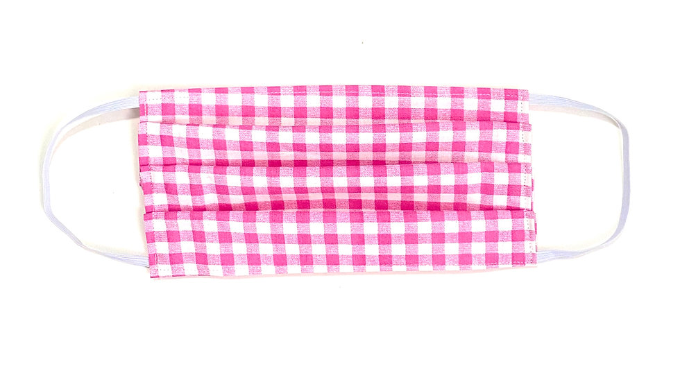 Kids Face Mask - Pink Gingham