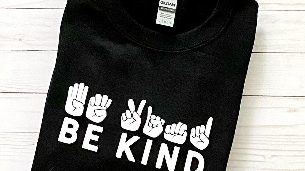 Be Kind Crewneck Sweatshirt - Black