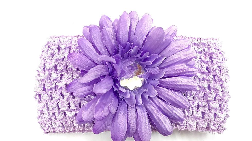 Lavender Gem Flower Headband