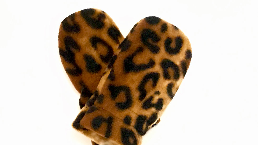 Infant No-Thumb Leopard Mitts