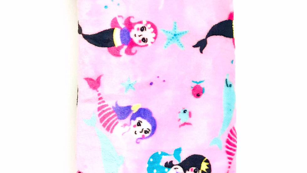 Pink Mermaid Stroller Blanket