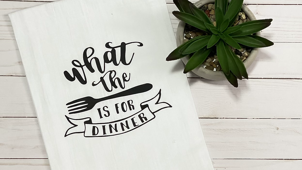 What The Fork is For Dinner Kitchen Towel