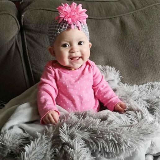 Gray Pink Headband