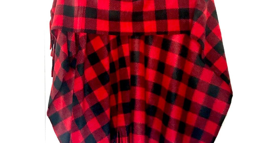 Ladies Wrap - Red & Black Buffalo Check
