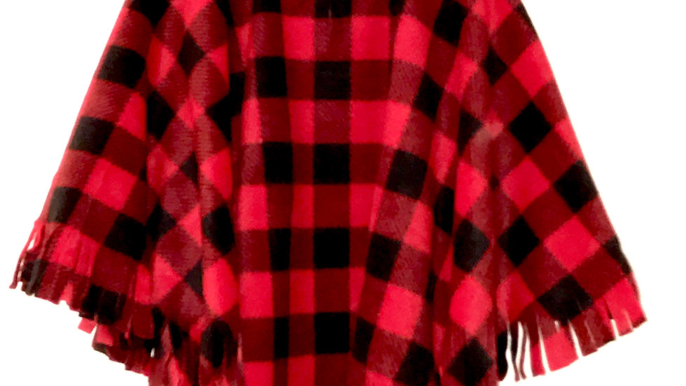 Red Buffalo Check Poncho