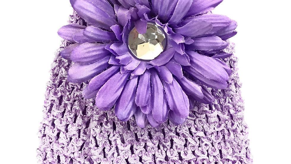 Lavender Infant Gem Flower Hat