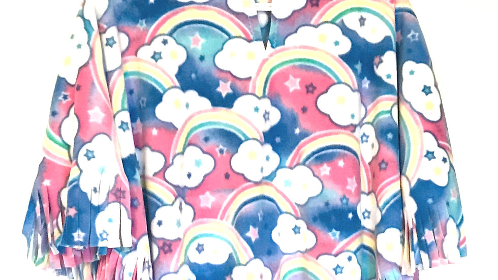Rainbow Clouds Poncho