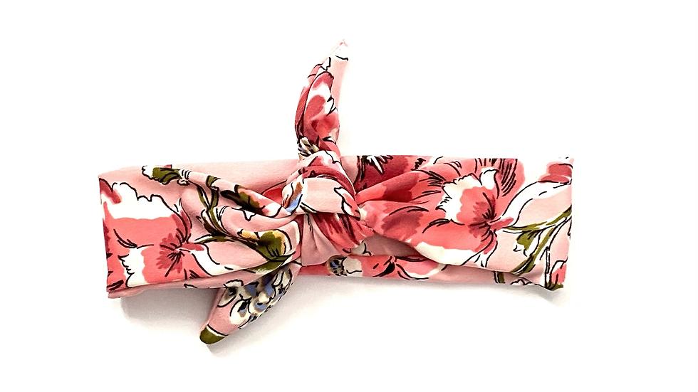Pink Floral Knot Headband